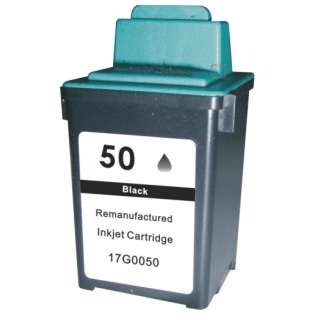 Remanufactured Lexmark 50, 17G0050, 17G0055 ink cartridge, high yield, black