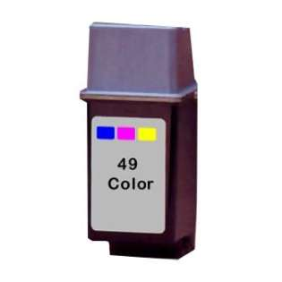 Remanufactured HP 49, 51649A ink cartridge, tri-color
