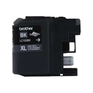 Brother LC103BK original ink cartridge, high capacity yield, black, 600 pages