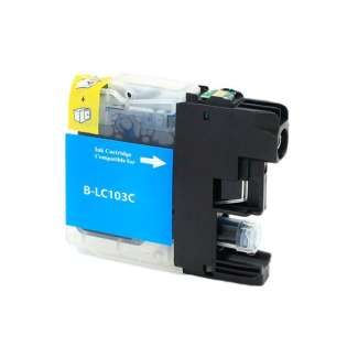 Compatible inkjet cartridge for Brother LC103C / LC101C - cyan, 600 pages