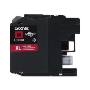 Brother LC103M original ink cartridge, high capacity yield, magenta, 600 pages