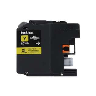 Brother LC103Y original ink cartridge, high capacity yield, yellow, 600 pages