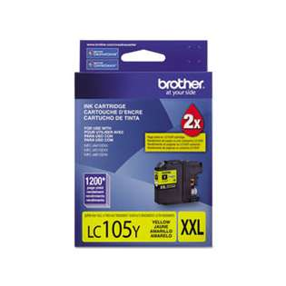 Brother LC105Y original ink cartridge, super high capacity yield, yellow, 1200 pages