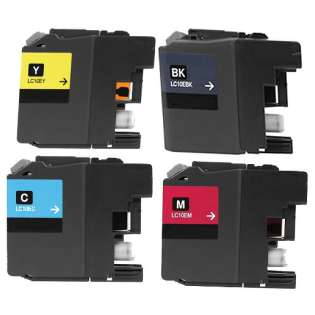 4 Pack: Brother LC10E Compatible Cartridges (BK/C/M/Y)
