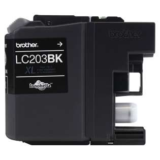 Brother LC203BK original ink cartridge, high capacity yield, black, 550 pages