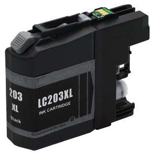 Compatible inkjet cartridge for Brother LC203BK - high yield black, 550 pages