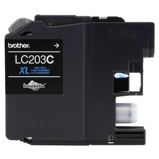 Brother LC203C original ink cartridge, high capacity yield, cyan, 550 pages