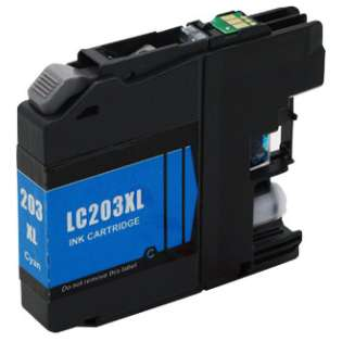 Compatible inkjet cartridge for Brother LC203C - high capacity yield cyan, 550 pages