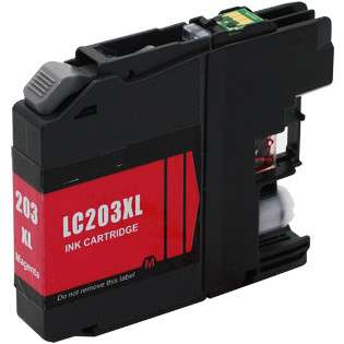 Compatible inkjet cartridge for Brother LC203M - high capacity yield magenta, 550 pages