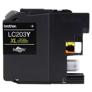 Brother LC203Y original ink cartridge, high capacity yield, yellow, 550 pages