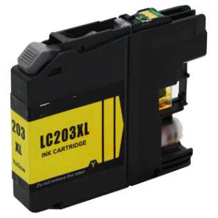 Compatible inkjet cartridge for Brother LC203Y - high yield yellow, 550 pages