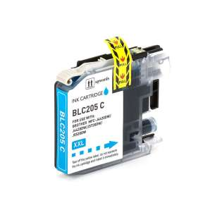 Compatible inkjet cartridge for Brother LC205C - super high yield cyan , 1200 pages