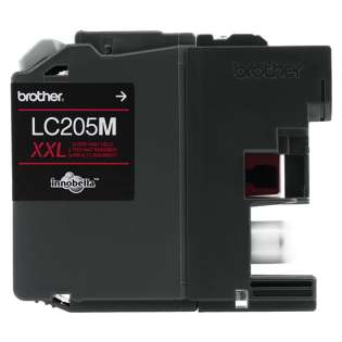 Brother LC205M original ink cartridge, super high yield, magenta, 1200 pages