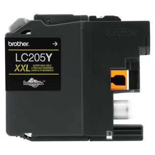 Brother LC205Y original ink cartridge, super high capacity yield, yellow, 1200 pages