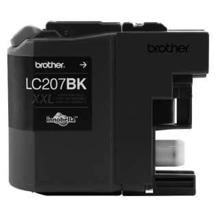 Brother LC207BK original ink cartridge, super high capacity yield, black, 1200 pages