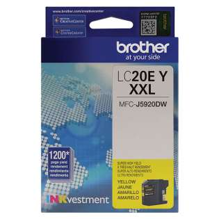 Original Brother LC20EY inkjet cartridge - super high capacity yield yellow