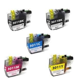 Compatible 499 inks brand inkjet cartridges Multipack for Brother LC3011 - 5 pack