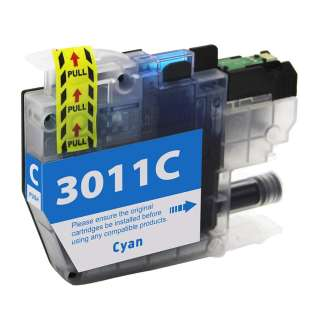 Compatible 499 inks brand inkjet cartridge for Brother LC3011C - cyan