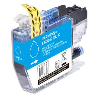 Compatible inkjet cartridge for Brother LC3017C - high yield cyan