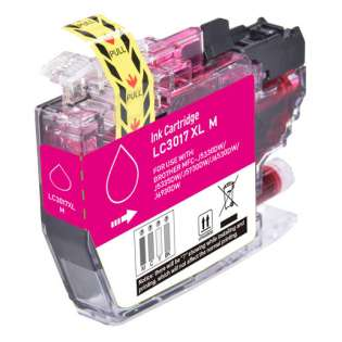 Compatible inkjet cartridge for Brother LC3017M - high yield magenta