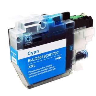 Brother LC3019C ink cartridge compatible - super high capacity yield cyan
