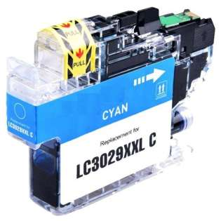 Brother LC3029C ink cartridge compatible - super high capacity yield cyan