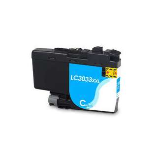 Compatible inkjet cartridge for Brother LC3033C - super high yield cyan