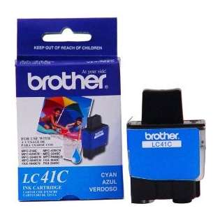 Brother LC41C original ink cartridge, cyan