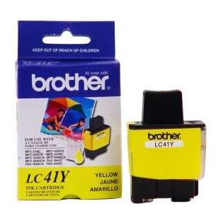Brother LC41Y original ink cartridge, yellow