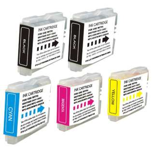 Compatible Brother LC51 ink cartridges, 5 pack