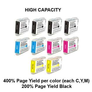 Compatible Brother LC51 ink cartridges (contains 10 cartridges)