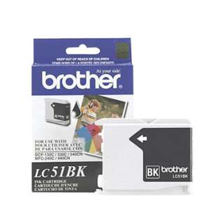 Brother LC51HYBK original ink cartridge, high yield, black