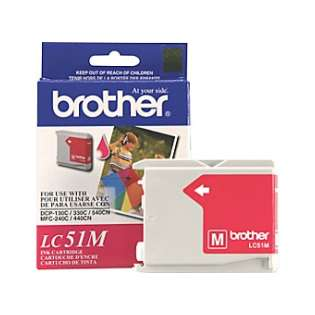 Brother LC51M original ink cartridge, magenta