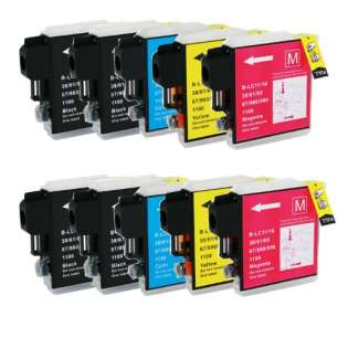 Compatible Brother LC61 ink cartridges (contains 10 cartridges)