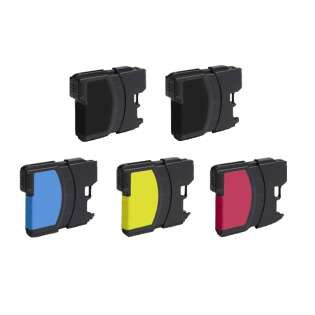 Compatible Brother LC61 ink cartridges (contains 5 cartridges)