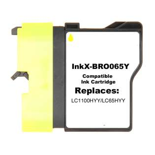 Compatible cartridge Brother LC65HYM - yellow