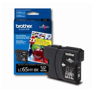 Brother LC65HYBK original ink cartridge, high capacity yield, black