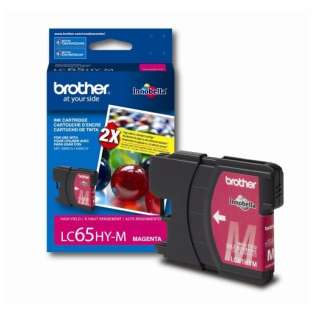 Brother LC65HYM original ink cartridge, high capacity yield, magenta