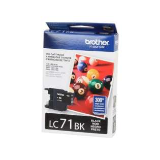 Brother LC71BK original ink cartridge, black, 300 pages
