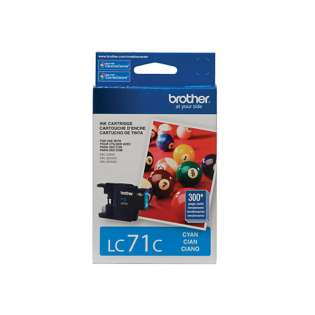 Brother LC71C original ink cartridge, cyan, 300 pages