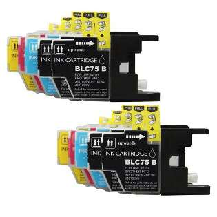Compatible Brother LC75 ink cartridges, high capacity yield, 10 pack