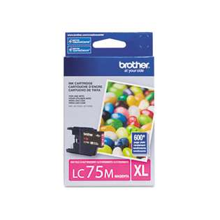 Brother LC75M original ink cartridge, high capacity yield, magenta