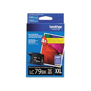 Brother LC79BK original ink cartridge, super high capacity yield, black