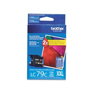 Brother LC79C original ink cartridge, super high capacity yield, cyan