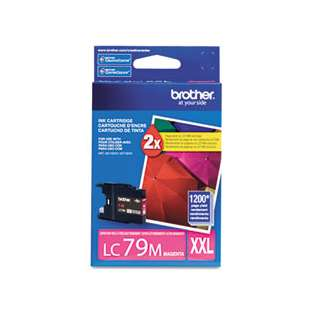 Brother LC79M original ink cartridge, super high capacity yield, magenta