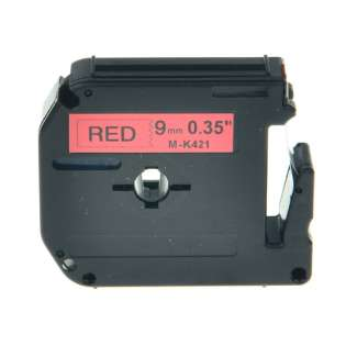 Compatible label tape for Brother M-K421 - black on red