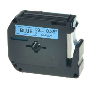 Compatible label tape for Brother M-K521 - black on blue