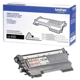 Brother TN450 Genuine Original (OEM) laser toner cartridge, 2600 pages, high capacity yield, black