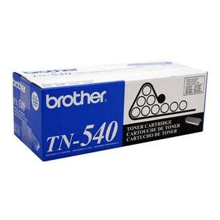 Brother TN540 Genuine Original (OEM) laser toner cartridge, 3500 pages, black