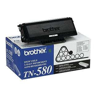 Brother TN580 Genuine Original (OEM) laser toner cartridge, 7000 pages, high capacity yield, black